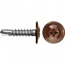 Саморезы с прессшайбой RAL со сверлом 4,2х16 (8017, шоколадно-коричневый)