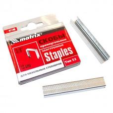 Скобы для мебельного степлера тип 53 10мм 1000шт MATRIX 41140