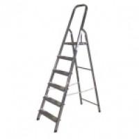 Лестница-стремянка алюминевая, 6 ступеней, 124см 38801-6