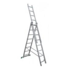 Лестница, 3х8 ступени, алюминевая, трехсекционная 97781