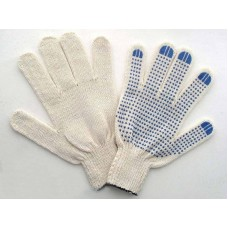 Перчатки белые 5 нитка 10 кл. ПВХ Стандарт