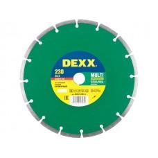 Диск отрезной алмазный DEXX сегментный, 230х7х22,2мм 36701-230_z01