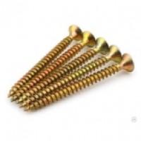 Саморезы универсальные желтые 4,5х40 цинк потай