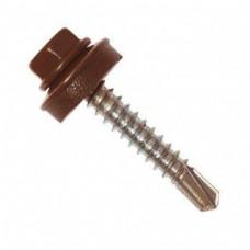 Cаморез кровельный 5,5x19 сверло RAL-8017 (коричневый шоколад)